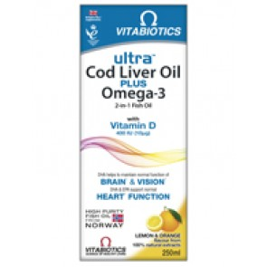Vitabiotics - Ultra 2 in 1 Cod Liver Oil Liquid - 250ml