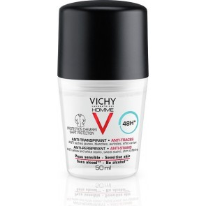 Vichy - Homme V Anti-Transpirante 48h Sensitive Skin Roll-On Κατά της εφίδρωσης Δεν λεκιάζει - 50ml