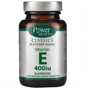 Power Health - Classics Platinum Range Βιταμίνη E 400iu - 30 soft caps